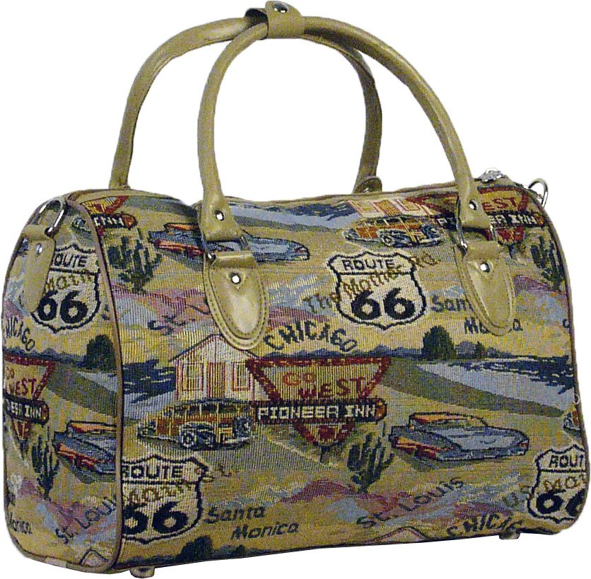 Route 66 Tapestry Duffle Bag - 16""
