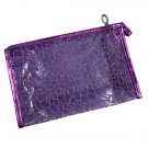 Transparent Cosmetic Bag, Purple