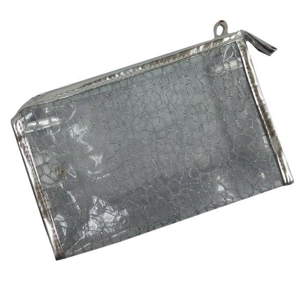 Transparent Cosmetic Bag, Silver