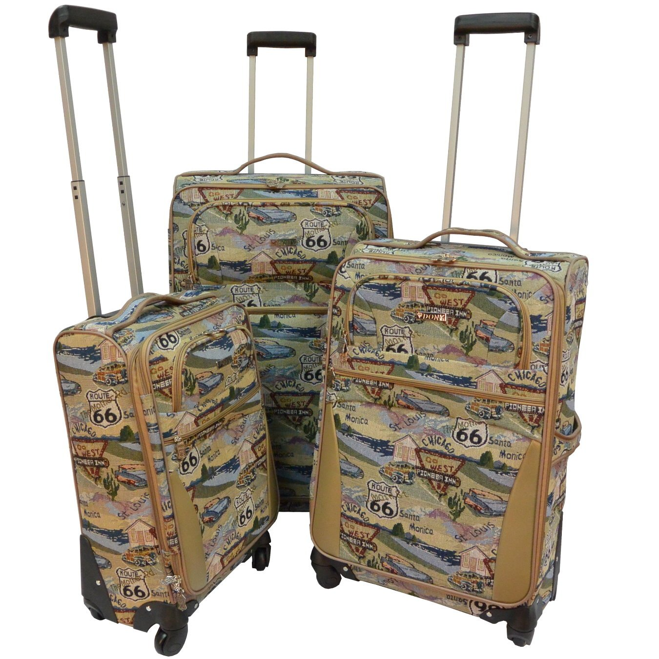 Route 66 Spinner Wheels Luggage Set