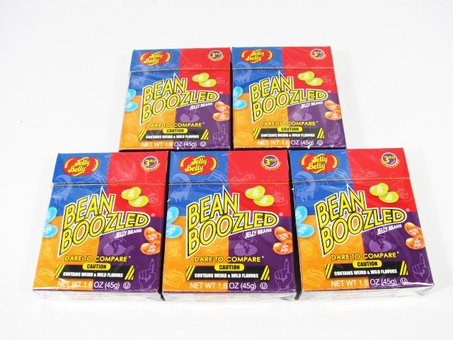 5 Pck Bean Boozled Jelly Belly Party Candy 1.6 oz Stocking Stuffers