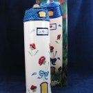 """LENOX Silo Canister Poppies on Blue Barnyard Collection 15 1/4"""" H  w/ Orig Box Fast Free Ship"""