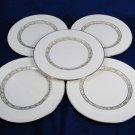 "LENOX SPRINGDALE 5 Salad Dessert Bread Plates Fine China Platinum Trim 8 3/8"" Fast Free Ship"