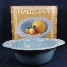 PFALTZGRAFF Azure Petals Serving Fruit Blue Bowl Centerpiece Floral 4 QT w/ Box Fast Free Ship