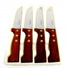 PAUL BOCUSE Professionelle Steak Knives Set 4 Stainless Steel Wood Handled Japan Fast Free Ship