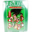 BERNAT 1989 Christmas Stockings 10 Ornaments Plastic Canvas KIT NEW Fast Free Ship