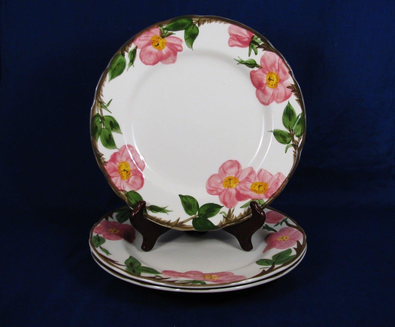 """FRANCISCAN Desert Rose Dinnerware Lot of 3 Dinner Plates 11"""" Fast Free Ship"""
