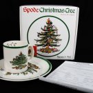 SPODE CHRISTMAS TREE Royal China Santa's Set 1 Desert Plate & 1 Mug NEW England