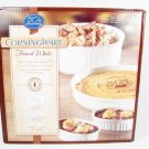 CORNINGWARE French White 4 Pcs Serving Casserole Dishes Limited Ed Set NEW Fast Free Ship
