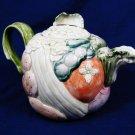 VTG 1986 FITZ & FLOYD Vegetable Garden Teapot Pitcher Ceramic 1 1/4 QT Fast Free Ship