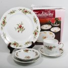 JOHANN HAVILAND 5 Pc Place Set MOSE ROSE Traditions Fine China NEW in Box