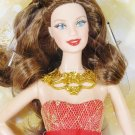 NRFB 2014  HOLIDAY Christmas Brunette  BARBIE Doll Collector Mattel Inc Fast Free Ship