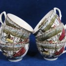 VTG JOHNSON BROTHERS Set of 6 Friendlly Villages ICE HOUSE Teacups England Fast Free Ship