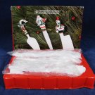 INT'L SILVER Holiday Cheer 3 Pc Cheese Set Knife Trowel Cleaver w/ Original Box Fast Free Ship