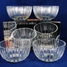 VTG GODINGER 1982 Empress Crystal Glass Set of 4 Fruit Cereal Bowls NEW w/ Box Fast Free Ship
