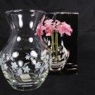"STYLESETTER St PauloCrystal Glass Bud Flower Vase Handcut Mouth Blown Germany 4"" Fast Free Ship"