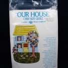 "SUMMER SKY Products OUR HOUSE Crib Size Quilt Home Craft KIT 57"" x 38"" Fast Free Ship"