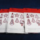 1979 STITCHERY SHAPES Set of 3 Pack It's Christmas Time in Red Refiller Package