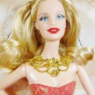 NRFB 2014 HOLIDAY Christmas BLONDE BARBIE Doll Collector Mattel Inc Fast Free Ship
