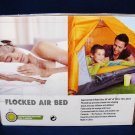 RELAX Flocked Air Bed Blue Queen Size For Indoor Use and Camping NIB Fast Free Ship