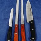 Lot of 4 Knife Knives Cutlery Kitchen Aid Case XX  Burns Koch Messer Stainless Fast Free Ship