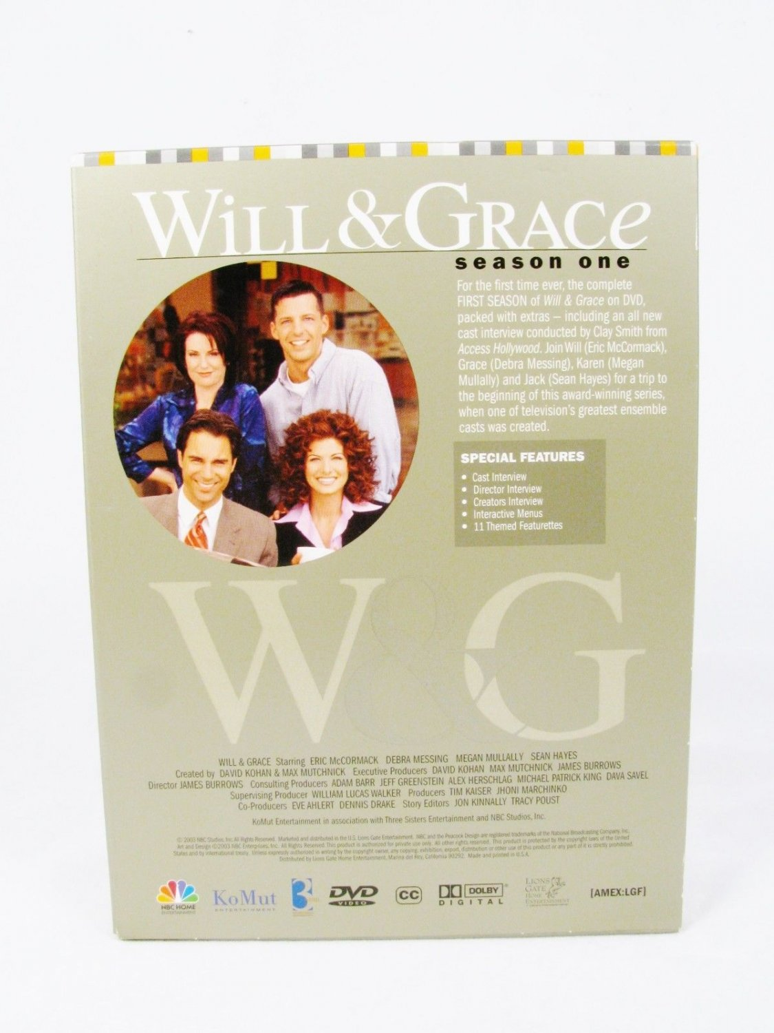 WILL & GRACE Complete Season One DVD Movie 4 Disc Box Set  2003 Fast Free Ship