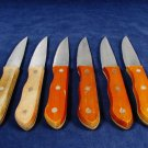 Set of  6 Steak Knife Knives Cutlery Serrated Stainless Steel Wood Handles Fast Free Ship
