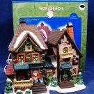 Santa's Workbench Cornestone Cobbler & Haberdashery Towne Collection w/ Orig Box Fast Free Ship