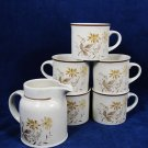 ROYAL DOULTON 1977 Lambethware Lot of 4 Cups and a Creamer SANDSPRITE England Fast Free Ship