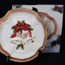 FITZ and FLOYD Holiday Bells Canape COOKIE PLATE Handcrafted 2063/133J Fast Free Ship