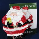 "FITZ and FLOYD Canape Plate GIFTS FROM SANTA w/ Original Box 9 1/4"" X 7"""