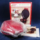 HOLIDAY TIME Red  Mini Cupcake Maker Non Stick Bakes 7 Cupcakes At Once NEW