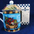 COZYCUPS Coffee Mug Cup LIDDED Christmas Delivery Gillian Webster 8 Oz