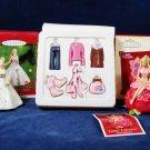 HALLMARK Keepsake 3 Barbie Ornaments Fashion Minis 2001 Celebration Fairytopia Fast Free Ship