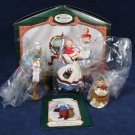 HALLMARK 2001 Keepsake Ornament Collector's Club LETTERA GLOBUS  MRS CLAUS 3 PC Fast Free Ship