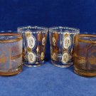 Four Glass Tumbler CULVER Nashville TN Music City Mid Century Historical Queens Fast Free Ship