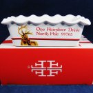 FITZ and FLOYD Christmas Memories MINI LOAF PAN Letters to Santa Handpainted NIB Fast Free Ship