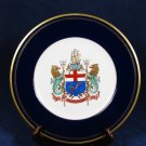 The ARMS OF LLOYD'S Fidentia Coat of Arms Bone China Collector's Plate England Fast Free Ship