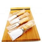 NATURAL HOME Magnetic Cheese Board w/ Tools Bamboo & Recycled Stainless Steel  Fast Free Ship