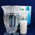 CRISTAL d' ARQUES France Carthage Crystal Glass Hurricane w/ Pillar Candle & Box