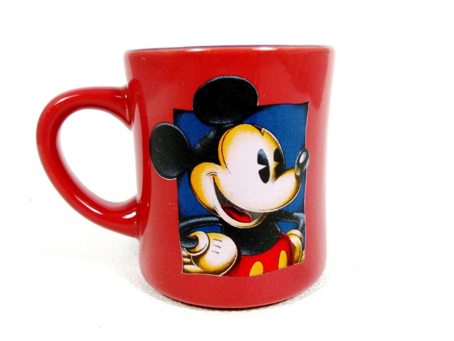 DISNEY's MICKEY MOUSE Sketch Style Burgundy Red Coffee Mug Cup 10 Oz  Fast Free Ship