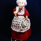 "Vintage MATRIX 1995 Mrs SANTA CLAUS Animated Illuminated Motionette Figure 24""  Fast Free Ship"