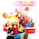 FITZ and FLOYD 2006 Merry Jingle Moose Cookie Jar Holiday Christmas w/ Orig Box  Fast Free Ship