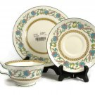 Wedgwood China 3 Piece Salad Plate Saucer & Cup Set SHAH Cream Made in England FREE SHIP