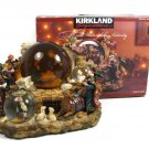 Kirkland Multi Waterglobe Nativity Lights Up Musical Plays 3 Holiday Songs & Box FREE SHIP