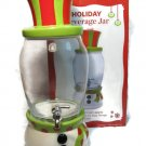 Holiday Snowman Beverage Jar Ceramic Glass by Real Home 1.7 Gal Liter Fast Free Ship
