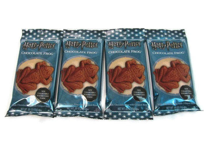 Harry Potter Chocolate Frogs Milk Chocolate with Crisped Rice 4 Ct 0.55 Oz Fast Free Ship