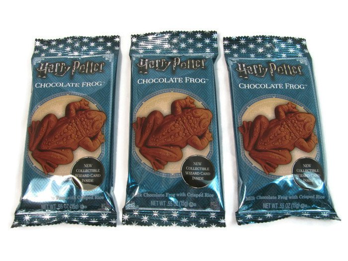Harry Potter Chocolate Frogs Milk Chocolate with Crisped Rice 3 Ct 0.55 Oz Fast Free Ship