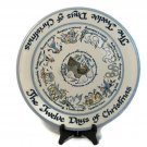 """Louisville Stoneware 12 Twelve Days of Christmas Collector Platter Gray Blue 14"""" Fast Free Ship"""