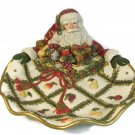 Fitz and Floyd Classics Renaissance Holiday Santa Canape Candy Dish Tray Large Fast Free Ship